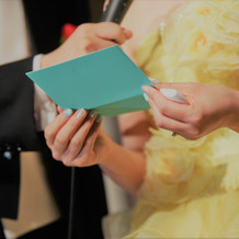 花嫁から両親の手紙
