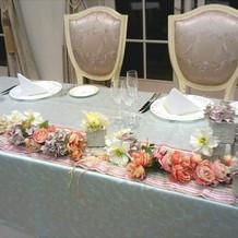 個性的な装花