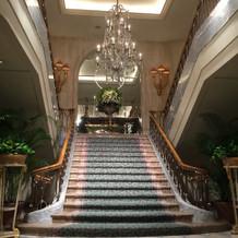 ロビーの大階段!