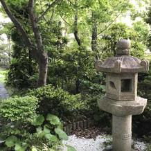 ホテル内にある庭園  和装の前撮り可能