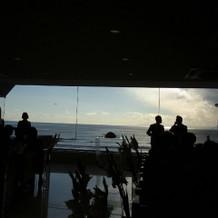 チャペルから見える海