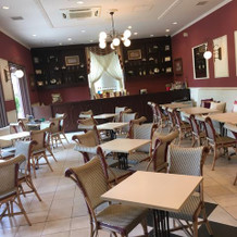 ゲストのかたが使うカフェがありました。