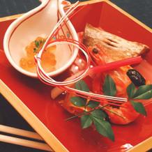 とても華やかな和食です。