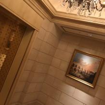 エレベーターの前も写真映えします