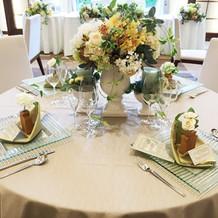 テーブル装飾