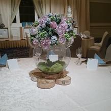 試食フェア時のテーブル