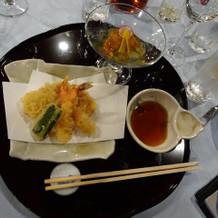 和食コースの天ぷら