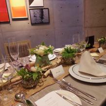 テーブル装花も大満足でした!