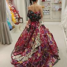一目惚れの和ドレス