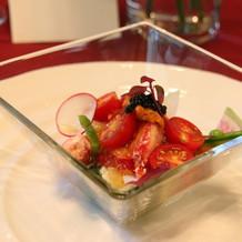 オマール海老と季節の野菜のムース