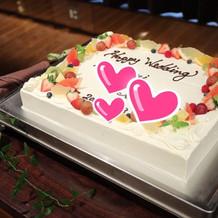 プラン内のケーキはこんな感じです