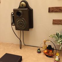 アンティークな電話が可愛かった^ ^
