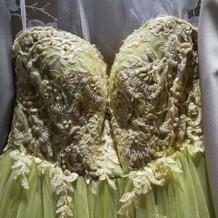 選んだドレスです。プラス三万でした。