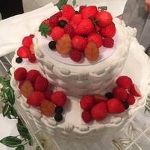 見映えの良いイミテーションケーキでした。