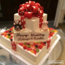 ケーキが可愛かった!