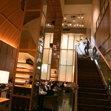 階段上からの入場