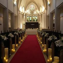 大聖堂のチャペルはすごく感動的です。