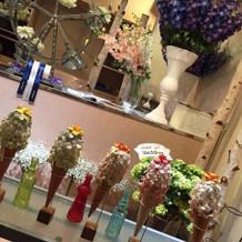 装花もお花屋さんのような雰囲気