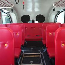 シャトルバスはミッキーマウス仕様でした♪