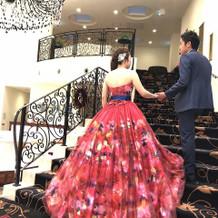 前撮り・当日のカラードレス