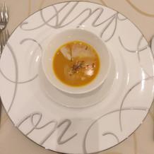 かぼちゃとコーンのスープ