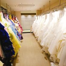 併設の衣装コーナー