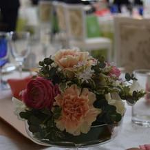 ゲスト様テーブルのお花