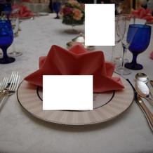 当日のゲスト様のテーブル