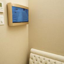 モニター付きの授乳室