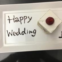 ケーキはさっぱりしてます