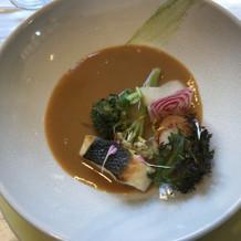 白身魚と国産のフランス野菜