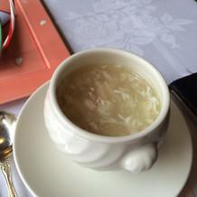 中華風のふかひれスープでほっこり