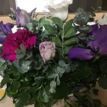 お花のプレゼントをもらい、嬉しかった。