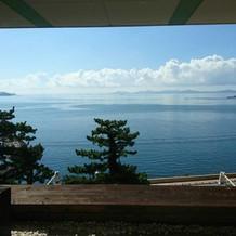 控室からも海が見えて綺麗です