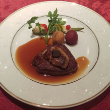 メイン料理 お肉もフォアグラも美味し