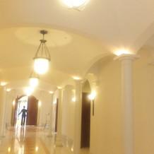 チャペルまでの廊下
