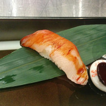 目の前で握ってもらったお寿司