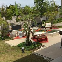 開放的な中庭