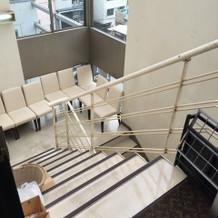階段で上り下りできます