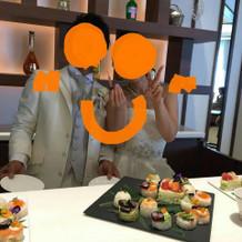 式場で寿司バーやりました。