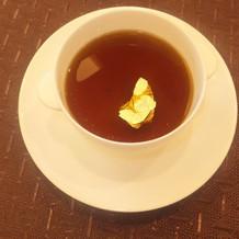 金箔入りのスープ