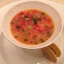 トマトのスープです