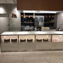 ベッラルーチェのオープンキッチン