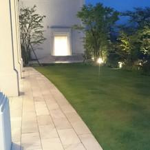 緑ある庭が素敵でした。