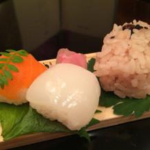 お寿司、赤飯