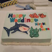 ケーキも考えたデザイン通り!