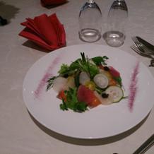 試食で頂いた前菜。