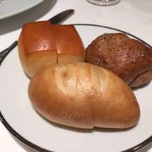 パンは柔らかめです