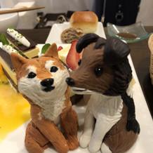 ケーキに愛犬ものせて☆