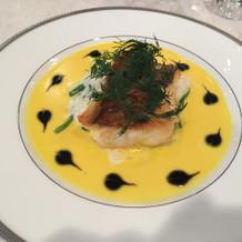 1番ベーシックなコース料理のお魚